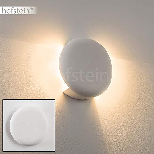 Wandlampe Teverina aus Keramik in Weiß, Wandleuchte mit Lichteffekt, 1 x E27 - Fassung, max. 60 Watt, Innenwandleuchte mit handelsüblichen Farben bemalbar, geeignet für LED Leuchtmittel