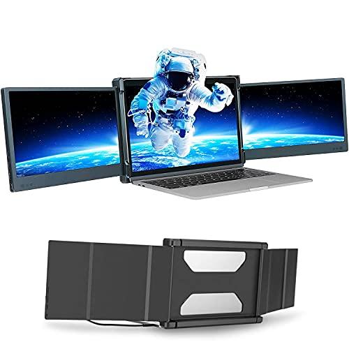 """Moniteur Portable pour Ordinateur Portable 12 """"écran IPS FHD 1080P   Alimenté par USB   Compatible Avec les Ordinateurs Portables Mac, PC, Chrome 13 """"-17"""""""
