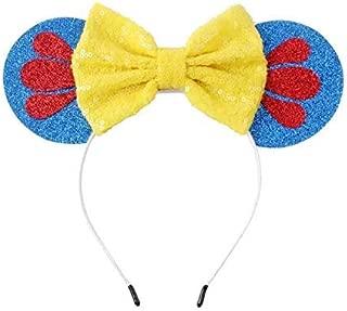 Snow White Mickey Ears, Snow White Ears,Blue Yellow Minnie Ears, Princess Mickey Ears, Disney Ears, Blue Minnie Mouse Ears