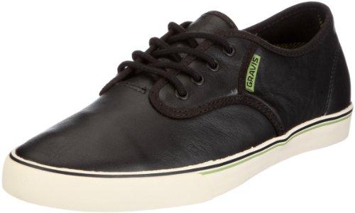 Gravis Herren Slymz Leather MNS Sneaker, Schwarz/Black-Pristine, 44 EU