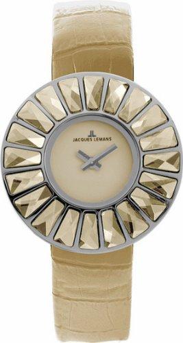 Jacques Lemans La Passion Damen-Armbanduhr XS Flora Analog Leder 1-1639C