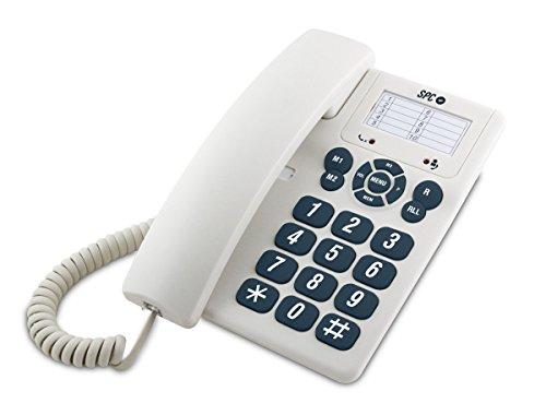 SPC Original teléfono fijo con 3 memorias directas y 10 indirectas fácil y sencillo