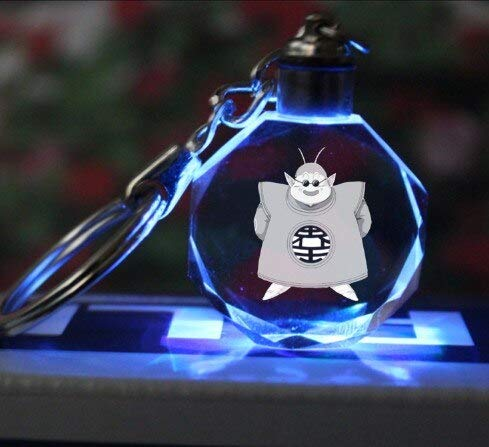 Bosi General Merchandise Dragon Ball, Super Saiyan, Llavero de Cristal, Goku, Vegeta, Buu, Llavero Colgante LED