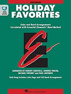 Essential Elements Holiday Favorites: Percussion Book with Online Audio