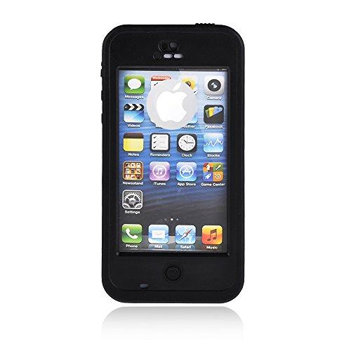 Redpepper Waterproof Case Waterproof Snowproof Shockproof Dirtproof for iphone 5/5S 5C (5/5S, Black)