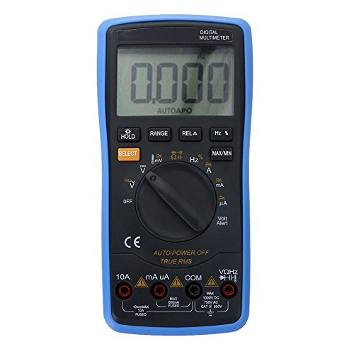 Prettygood7 Multimeter universele auto LCD digitale multimeter achtergrondverlichting AC/DC ampèremeter voltmeter