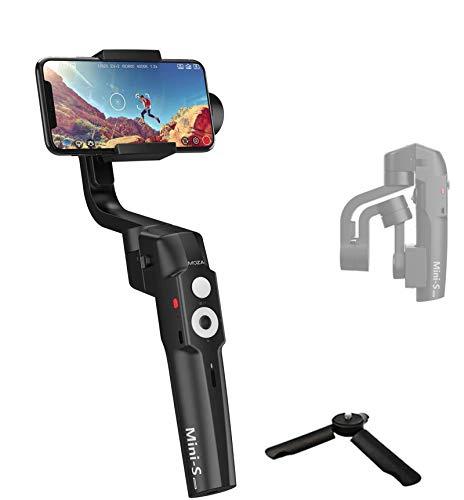 MOZA Mini-S Essential Stabilizzatore Smartphone Gimbal Stabilizzatore a 3 assi per smartphone iPhone Huawei Xiaomi Samsung per Vlogger Youtuber, 260g carico utile