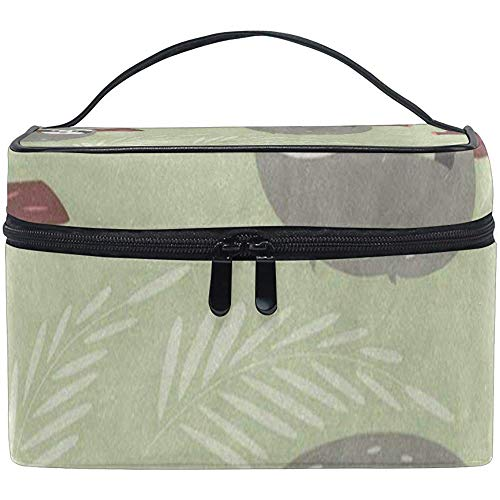 Trousse De Maquillage Forest Jungle Grey Sloth Green Girls Travel Cosmetic Bag Womens Toiletry Organizer