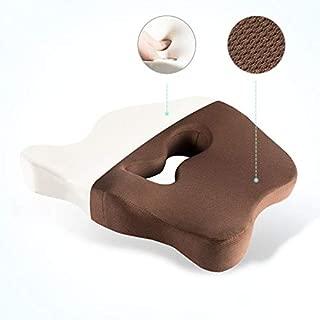 Mousse /À M/émoire De Forme//Douleur Au Coccyx Et Au Coccyx pour Votre Chaise De Bureau//Fauteuil Roulant,Brown TMXWHYQ Coussins De Si/ège