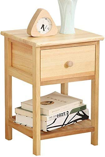 Massiver Kiefer klein scharf kleines Schlafzimmer Nachtschränkchen, wirtschaftlicher Niedergang,Wood color