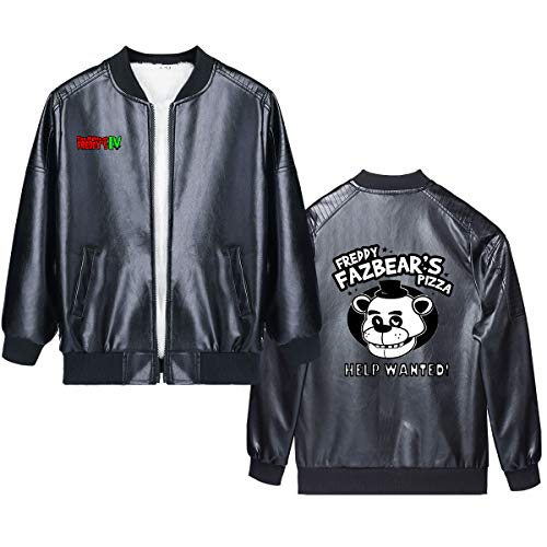 Five Nights at Freddy's Pullover Winter Children's Clothing Faux Leather Jacket With Print boys and girls (Color : A10, Size : Height-110cm(Tag 110))