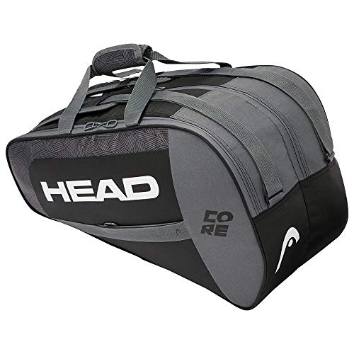 Head Core Combi Bolsa Tenis, Unisex-Adult, Negro/Blanco, Largo-6 Palas de Padel