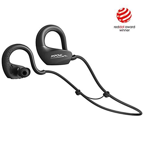 Mpow DS6 Bluetooth 5.0 Sport-Kopfhörer, HiFi Stereo-Sound/ 9 Stunden Musikzeit, IPX6 Wasserdicht Kabellose Kopfhörer mit MEMS HD-Mikrofon, Sportkopfhörer Joggen/Laufen für iPhone, Android
