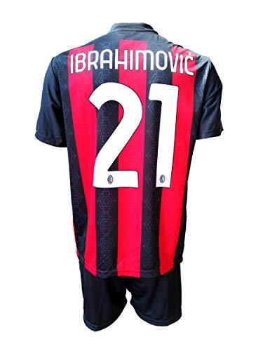 3rsport Completo Milan Zlatan Ibrahimovic 21 Replica Autorizzata 2020-2021 Bambino (Taglie-Anni 2 4 6 8 10 12) Adulto (S M L XL) (S Adulto)