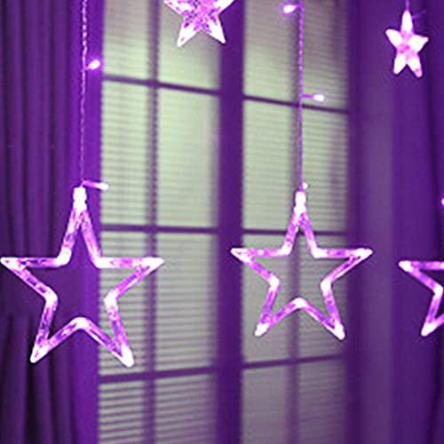 showyow Luces de Hadas LED, Guirnalda de Luces de Cadena de Cortina de Cielo Estrellado para decoración de Fiesta de Dormitorio Familiar