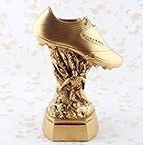 ULDQ Statuen Für Wohnzimmer Metallskulptur World Soccer Trophy Modell Golden Sneakers