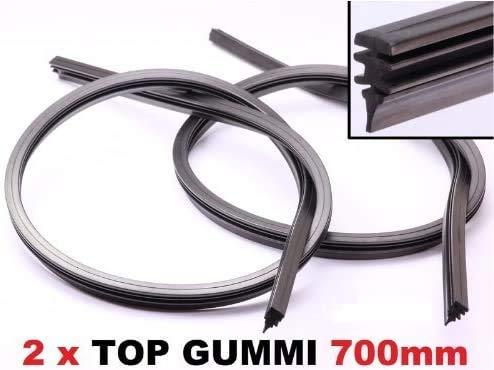 Sunbre 1000401 Goma de Repuesto para Limpiaparabrisas, 700mm, Negro, Paquete de 2