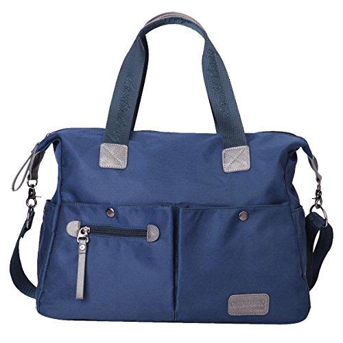 Eshow borsa da donna di tela da spalla a tracolla multiuso (azzurro)