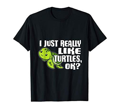 I Just Really Like Turtles Ok Disfraz De Tortuga Marina Camiseta