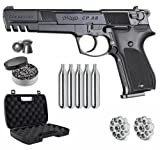 Umarex Walther CP88 Competition CO2 .177 Cal Pellet Air Pistol with Wearable4U 5X 12gr CO2 Tanks and .177 500ct Pellets Bundle