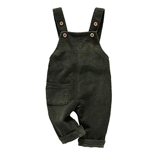 Fairy Baby Kleinkind Kinder Latzhose Cord Overall Baby Strapshose Jumpsuit Retro (1–4 Jahre) Gr. 2-3 Jahre , grün