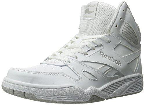 Reebok Men's Royal BB4500 HI Basketball Shoe, White/Steel, 14 M US