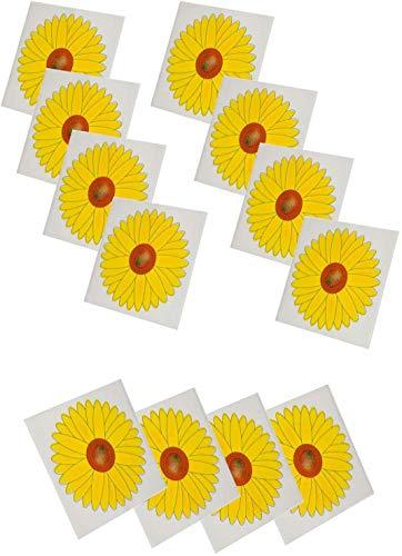 WOSNN Sonnenblume Fenster Fliegenfalle Fliegenstreifen Fliegen-Fensterstreifen Fliegenfänger Blume Insektizidfrei geruchlos transparent selbstklebend Motiv Fenster-Fliegenfalle Aufkleber (20 Stück)