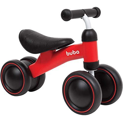 Bicicleta de Equilibrio - 4 Rodas, BUBA, Vermelho