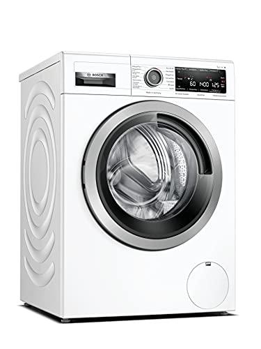 Bosch WAV28M43 Serie 8 Waschmaschine Frontlader / A / 48 kWh/100 Waschzyklen / 1400 UpM / 9 kg / Weiß / 4D Wash System / Fleckenautomatik / Allergie Plus / Home Connect