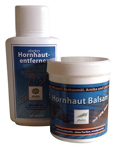 Fusspflege-Set aus flüssigem Hornhautentferner und Hornhautbalsam, je 250 ml