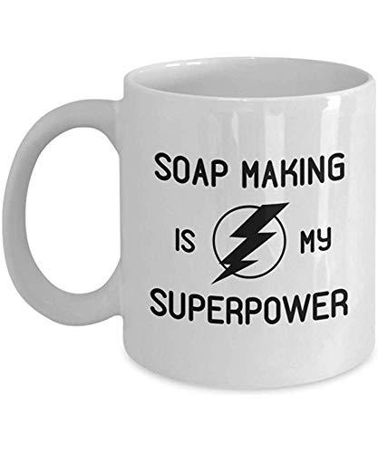 Het maken van zeep is mijn supermacht koffiekop kunstenaars-medewerkers onhold-geschenk-hobby-reisschalen cadeau