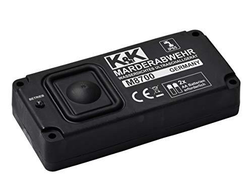 K&K M8700 - Das UNABHÄNGIGE Marderabwehrgerät: Marderabwehr Ultraschall (autark) batteriebetrieben, wasserdicht