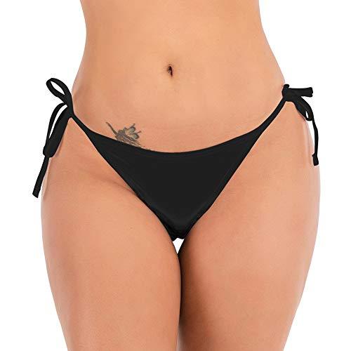 DODOING Damen Bikinihose Brasilianische Frech Badeanzug Tanga Bikini Bottom Tie Side Tankini Slips Badebekleidung Badehose G-String Tanga