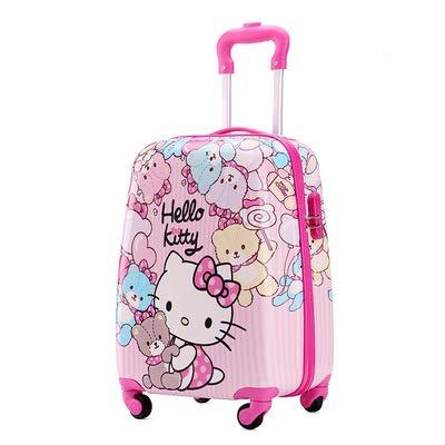 Children's Lever Box Cartoon Suitcase Student Suitcase 19 inches Transparent.