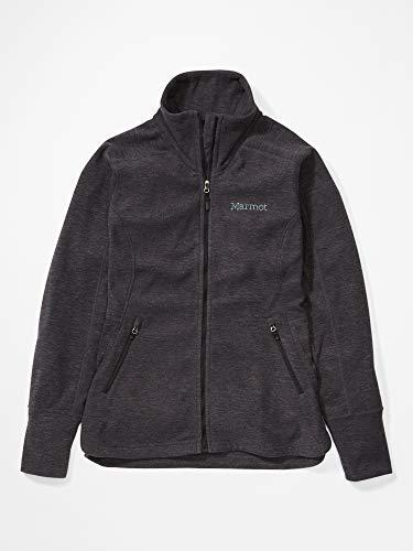 Marmot Damen Fleecejacke, Outdoorjacke, Atmungsaktiv Wm's Pisgah Fleece Jacket, Black, L, 89370