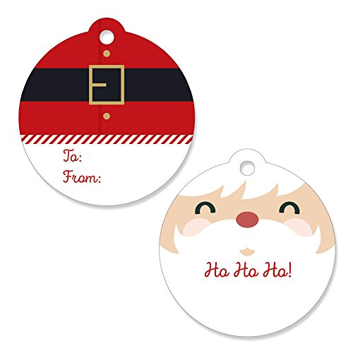 Big Dot of Happiness Jolly Santa Claus - Christmas Party Favor Gift Tags (Set of 20)