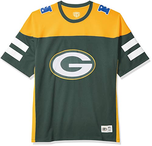 OTS NFL Green Bay Packers Men's Alton Jersey, Team Color, Large