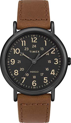 Timex Reloj Analógico para Hombre de Cuarzo con Correa en Cuero TW2T30500