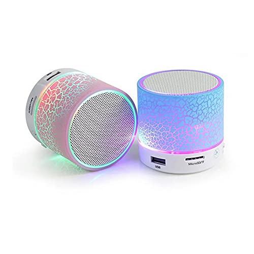 ZDSKSH Drahtloser Bluetooth-Lautsprecher buntes Licht Kleiner...