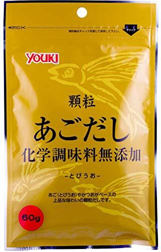 YOUKI ユウキ 顆粒あごだし 化学調味料無添加 60g 30個 ZTHW