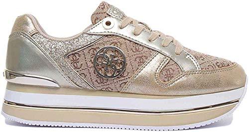 GUESS scarpe donna sneakers con platform FL5DLYFAL12 ORO taglia 36 Oro