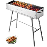 Happybuy Universal Flat Top Griddle 18x16 inches Stainless Steel Flat Top Griddle Plancha Comal BBQ...