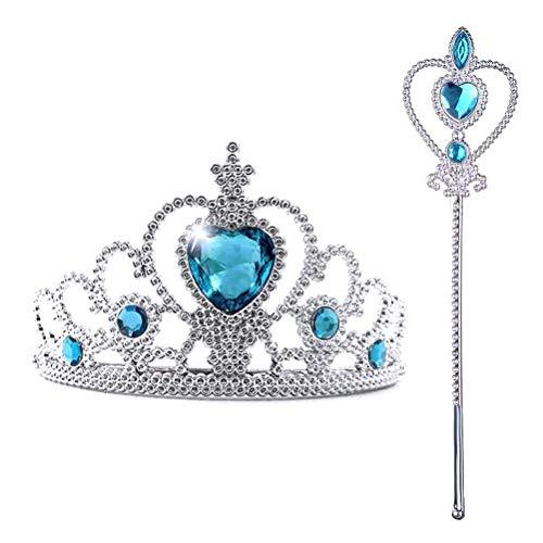 Crown Tiara - Juego de disfraz de princesa para nias (ideal para fiestas de cumpleaos, regalos de vacaciones para nios