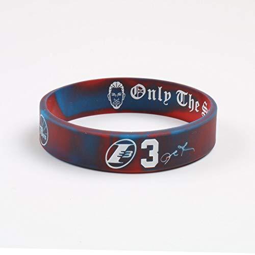 "Basketball-Star Armband ""Alle Iverson"" 3 Inspirierend Armband Silikon Sport Lava Armband Bild (Color : Colorful, Size : 18cm)"