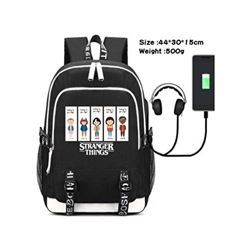 Junior rugzak voor kinderen 3D vreemdere dingen vreemde dingen outdoor reizen rugzak trendy student school tas rugzak schooltas met USB opladen poort 5