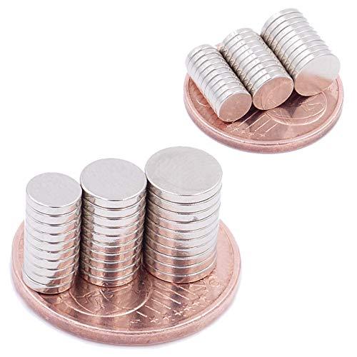 Brudazon | Conjunto de 60 Mini Imanes Discos 5x1mm + 6x1mm + 7x1mm | N52 Nivel más Fuerte - Los imanes de neodimio Ultra Fuertes | Imán del Poder para la Toma de Modelo | Pequeño y Extra Fuerte