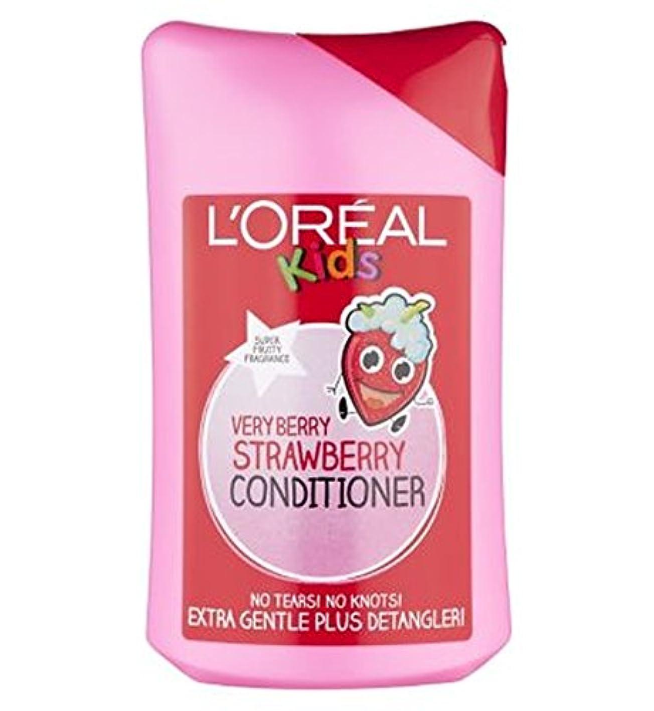 心のこもったオフェンスクラウドL'Oreall Kids Extra Gentle Very Berry Strawberry Conditioner 250ml - L'Oreall子供余分な穏やかな非常にベリーストロベリーコンディショナー250ミリリットル (L'Oreal) [並行輸入品]