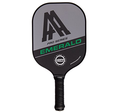 Amazin' Aces 'Emerald' Pickleball Paddle | USAPA Approved | Advanced Polymer Core with Polycarbonate Face & Premium Gamma Grip | Made in The USA | Pro Series