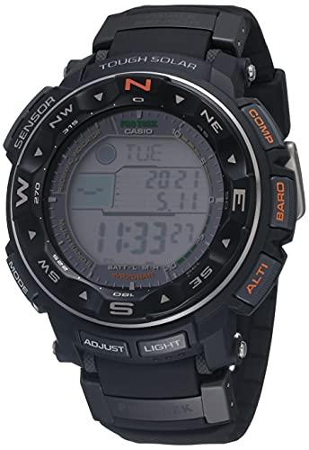 Casio Men's PRO TREK Stainless Steel Japanese-Quartz Watch with Resin Strap, Black, 17 (Model:...