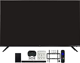 TCL 65R617 65-inch Class 6-Series 4K HDR Roku Smart TV Bundle with TCL Alto 7+ 2.1 Channel Sound Bar, Wireless Keyboard, D...